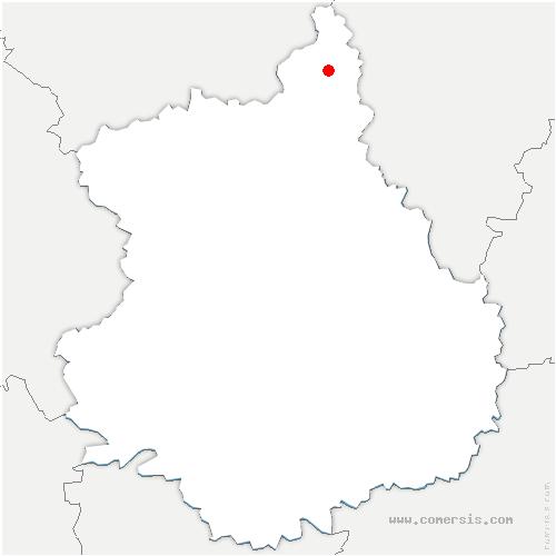 carte de localisation de Bû