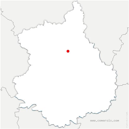 carte de localisation de Challet