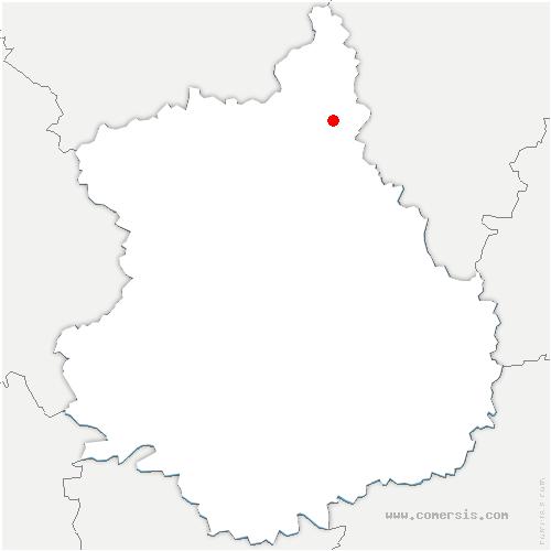 carte de localisation de Chapelle-Forainvilliers