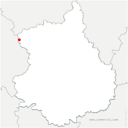 carte de localisation de Chapelle-Fortin