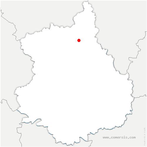 carte de localisation de Charpont