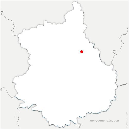 carte de localisation de Chartainvilliers