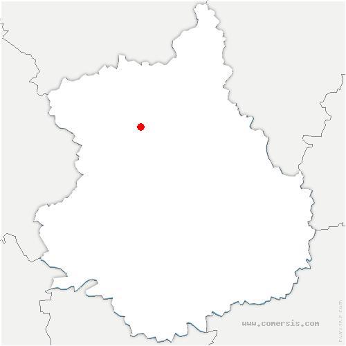 carte de localisation de Châteauneuf-en-Thymerais
