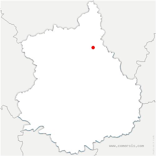 carte de localisation de Chaudon