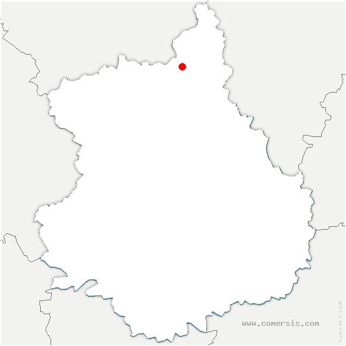 carte de localisation de Cherisy