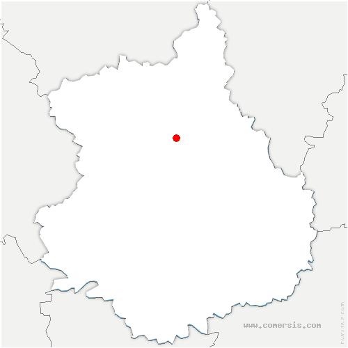 carte de localisation de Clévilliers