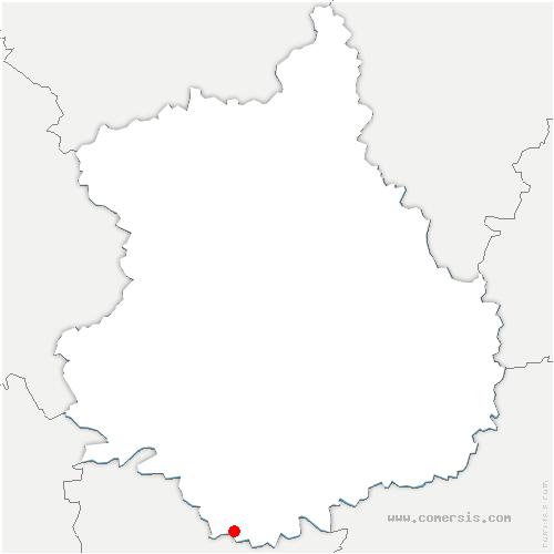 carte de localisation de Cloyes les Trois Rivières