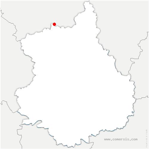 carte de localisation de Dampierre-sur-Avre