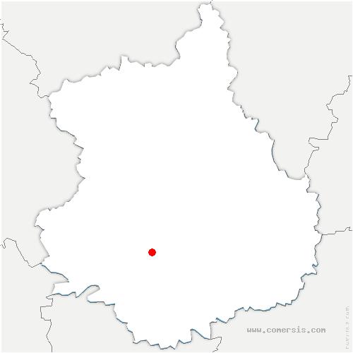 carte de localisation de Dangeau
