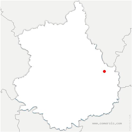 carte de localisation de Denonville