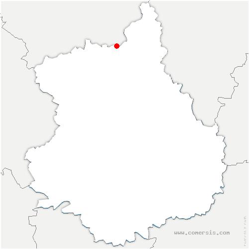 carte de localisation de Dreux