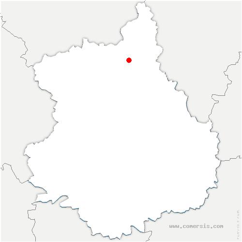 carte de localisation de Écluzelles