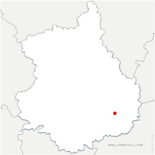 carte de localisation de Eole-en-Beauce