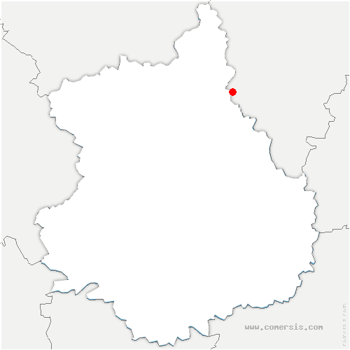 carte de localisation de Faverolles