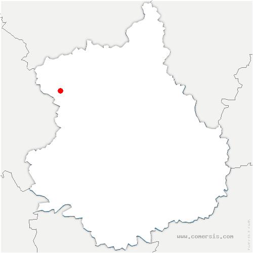 carte de localisation de Ferté-Vidame