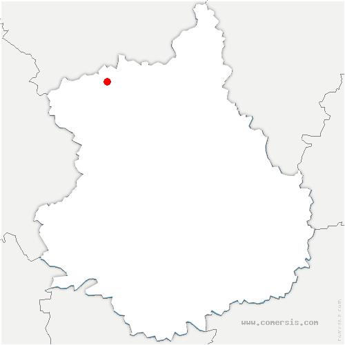 carte de localisation de Fessanvilliers-Mattanvilliers