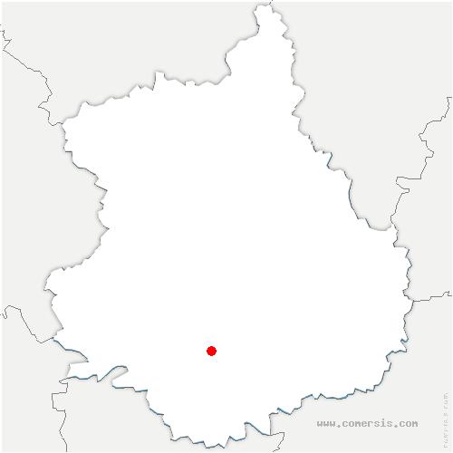 carte de localisation de Flacey