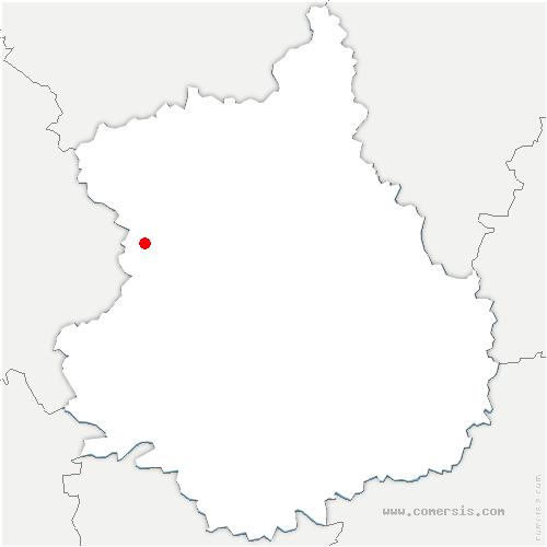 carte de localisation de Fontaine-Simon