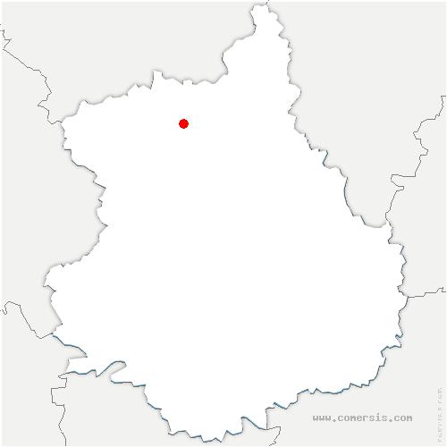 carte de localisation de Fontaine-les-Ribouts