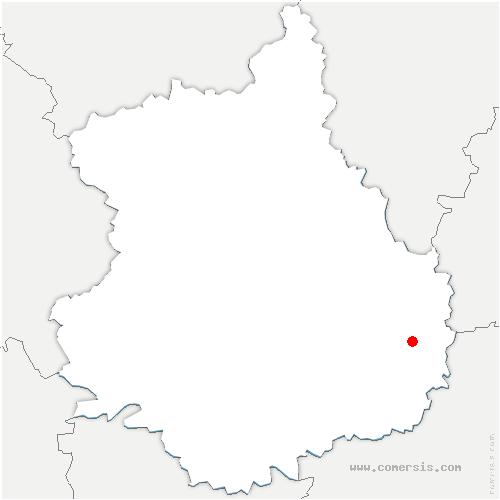 carte de localisation de Fresnay-l'Évêque