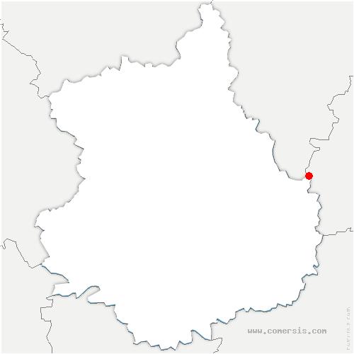 carte de localisation de Garancières-en-Beauce