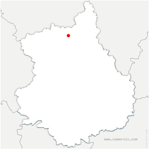 carte de localisation de Garnay