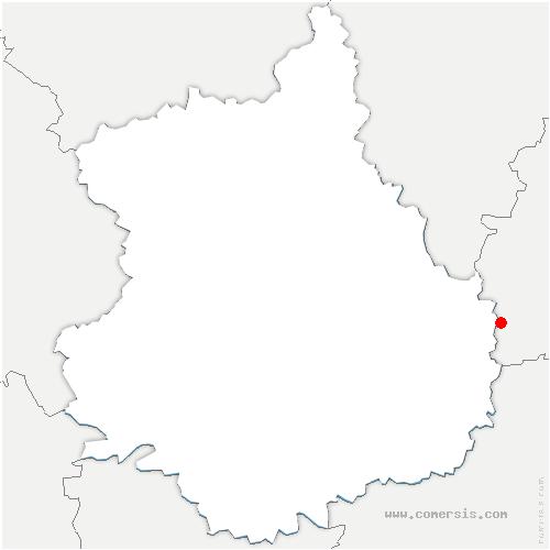 carte de localisation de Gommerville