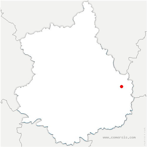 carte de localisation de Gouillons