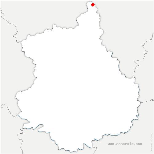 carte de localisation de Guainville
