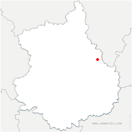 carte de localisation de Gué-de-Longroi