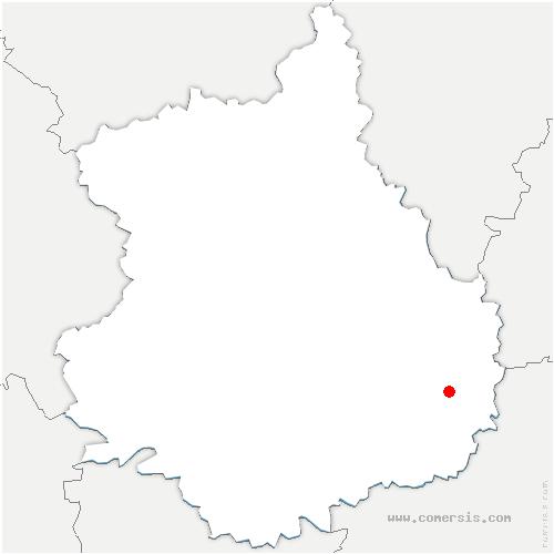 carte de localisation de Guilleville