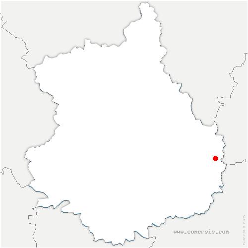 carte de localisation de Intréville