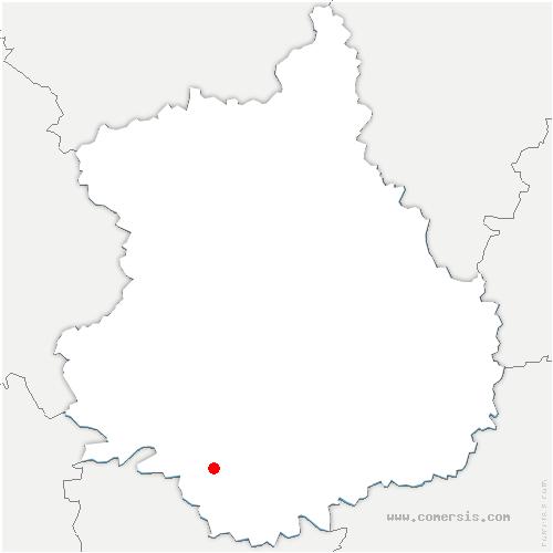 carte de localisation de Lanneray