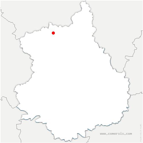 carte de localisation de Laons