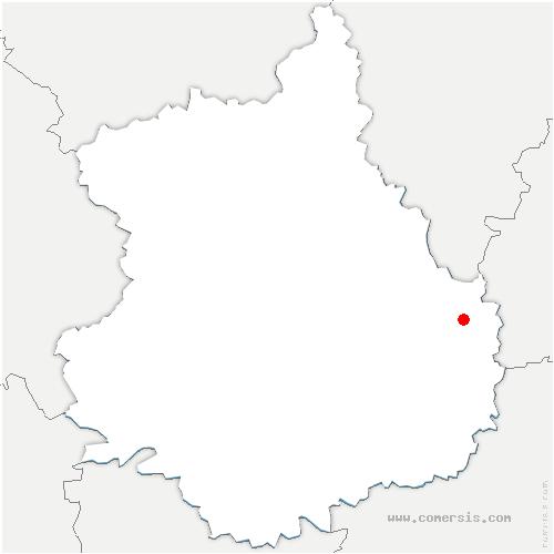 carte de localisation de Léthuin