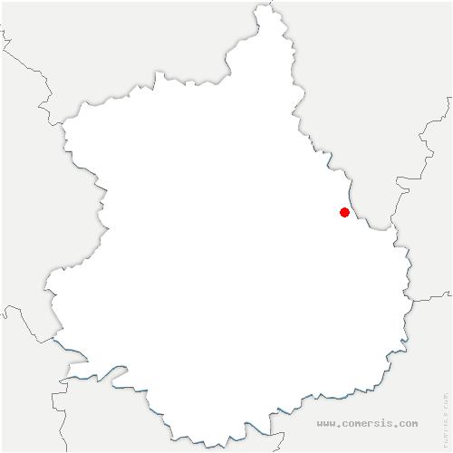 carte de localisation de Levainville