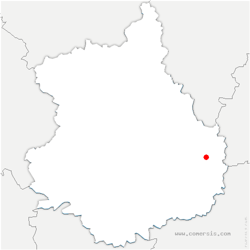 carte de localisation de Levesville-la-Chenard