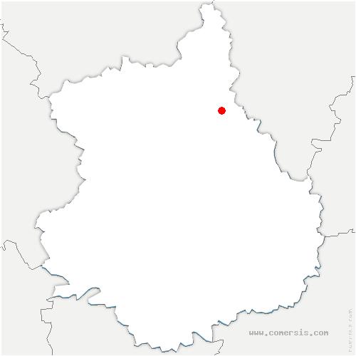 carte de localisation de Lormaye