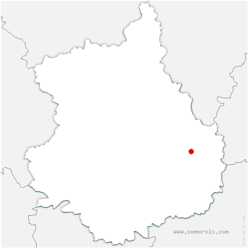 carte de localisation de Louville-la-Chenard