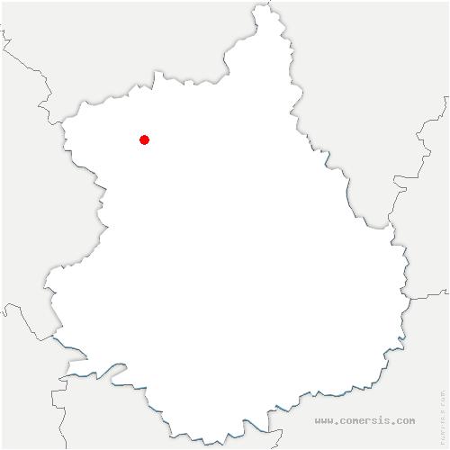 carte de localisation de Louvilliers-lès-Perche