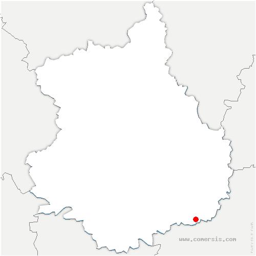 carte de localisation de Lumeau