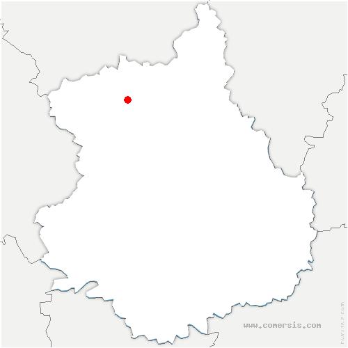 carte de localisation de Maillebois