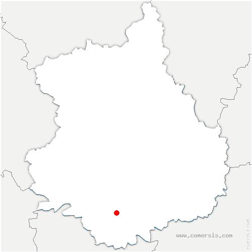 carte de localisation de Marboué
