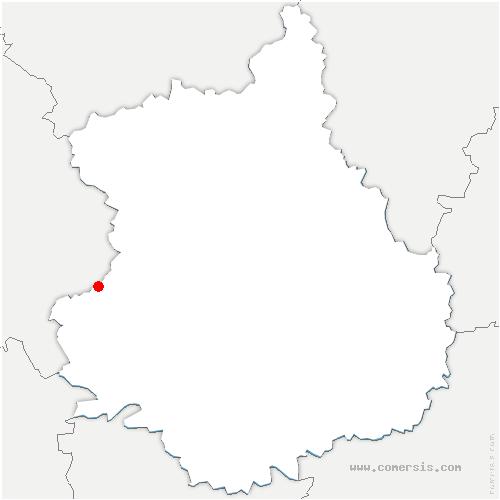 carte de localisation de Marolles-les-Buis