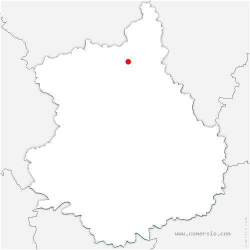 carte de localisation de Marville-Moutiers-Brûlé