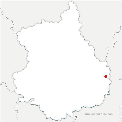carte de localisation de Mérouville