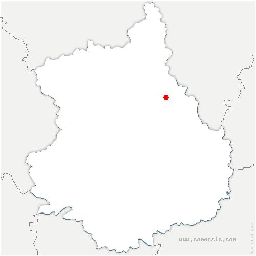 carte de localisation de Mévoisins