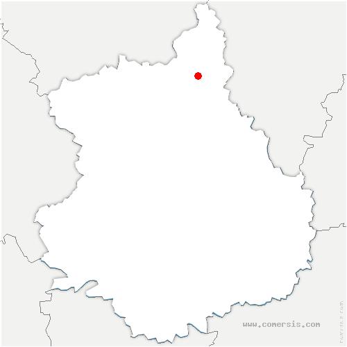 carte de localisation de Mézières-en-Drouais