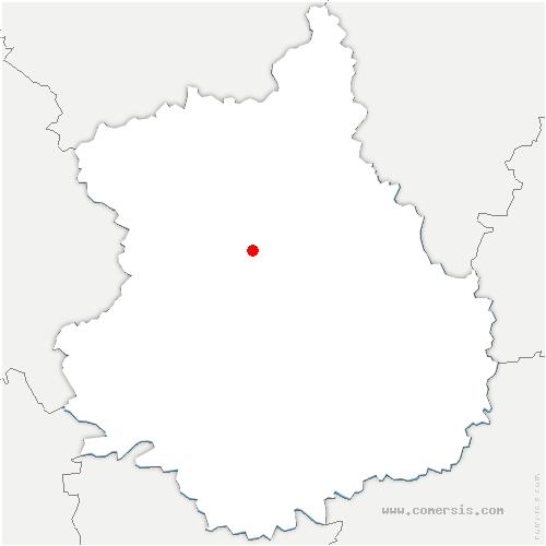 carte de localisation de Mittainvilliers-Vérigny