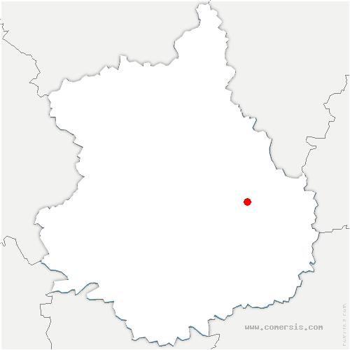 carte de localisation de Moinville-la-Jeulin